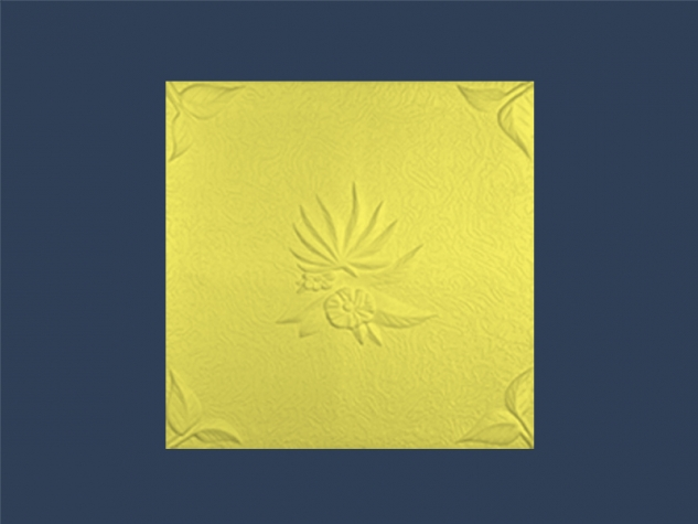 NATURA YELLOW overlapping ceiling tile