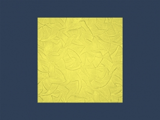 ZEFIR YELLOW overlapping ceiling tile